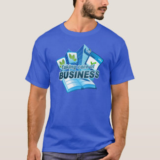 Taking care of Business Men's blue T-Shirt