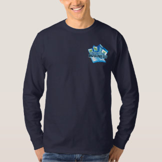 Taking care of Business Men's navy long sleeve T-Shirt