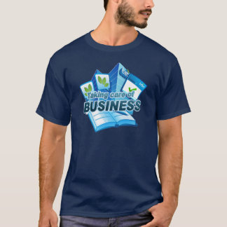 Taking care of Business Men's navy T-Shirt