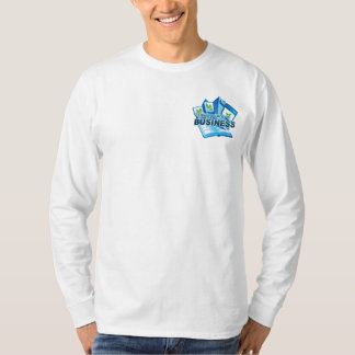 Taking care of Business Men's white long sleeve T-Shirt