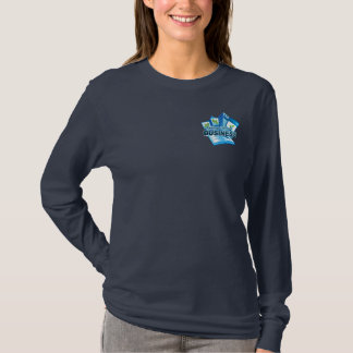 Taking care of Business Women's navy long sleeve T-Shirt