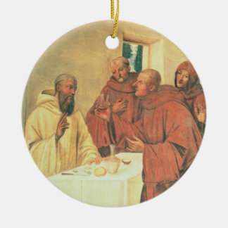 Taking Communion, from the Life of St. Benedict (f Christmas Tree Ornament