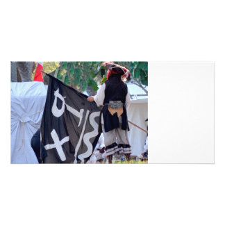 taking down pirate flag poster image custom photo card