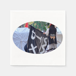 taking down pirate flag poster image disposable serviette