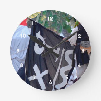 taking down pirate flag poster image round clock