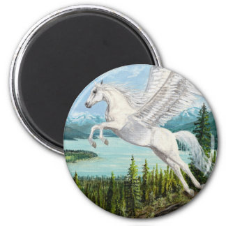 Taking Flight Pegasus horse magnet