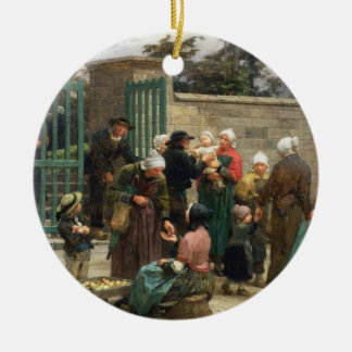 Taking in Foundlings (oil on canvas) Christmas Ornament