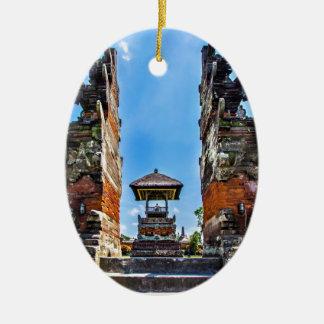 Taking man Ayun Temple, Bali Ceramic Oval Decoration