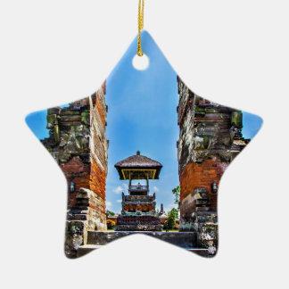 Taking man Ayun Temple, Bali Ceramic Star Decoration