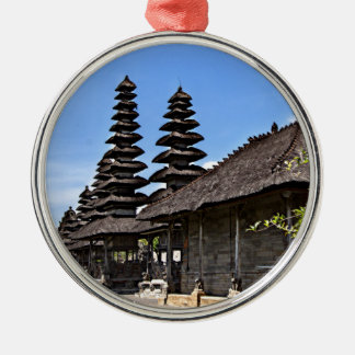 Taking man Ayun Temple, Bali Silver-Colored Round Decoration