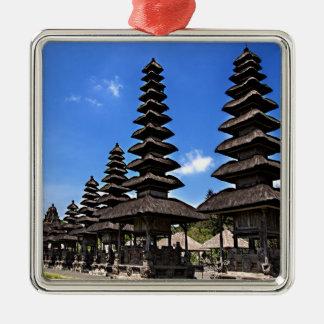 Taking man Ayun Temple, Bali Silver-Colored Square Decoration