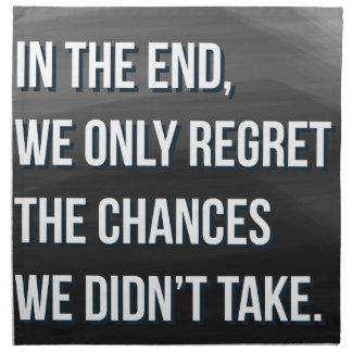 Taking Risks Inspirational Motivational Quote Napkin