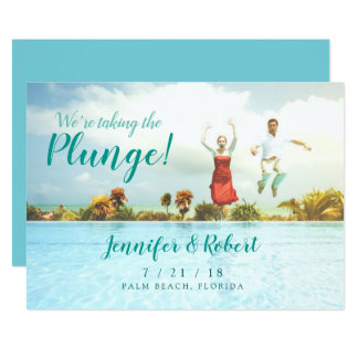 Taking the Plunge Summer Fun Save the Date Card