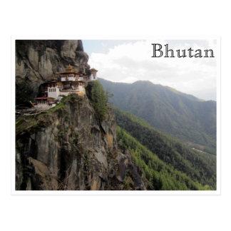 taktsang paro bhutan postcard