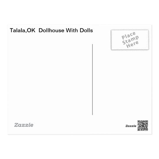Talala Dollhouse with Dolls Postcard