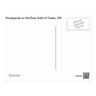 Talala, OK Stockyards on East Side Postcard