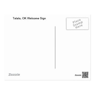 Talala, OK Welcome Sign Postcard