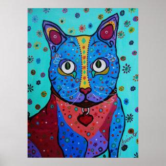 Talavera Cat painting Poster