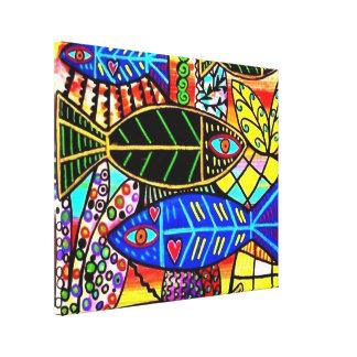 Talavera Fish In Love Canvas Canvas Print
