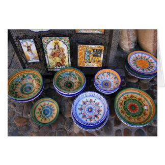 Talavera Pottery Card