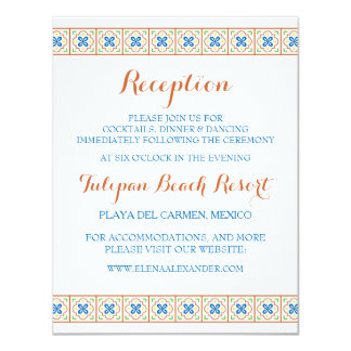 Talavera Spanish Tile Reception Card
