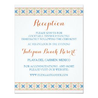 Talavera Spanish Tile Reception Card 11 Cm X 14 Cm Invitation Card
