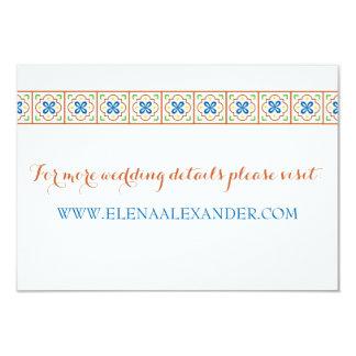 Talavera Spanish Tile Website Card 9 Cm X 13 Cm Invitation Card