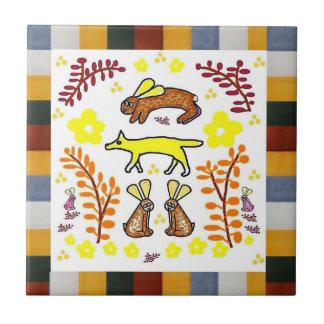 Talavera Style Tile - Coyote
