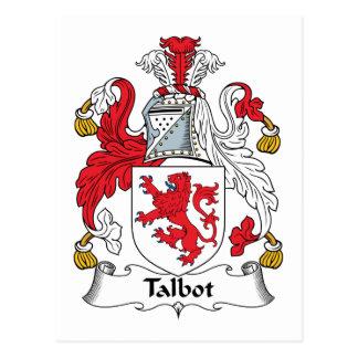Talbot Family Crest Postcard