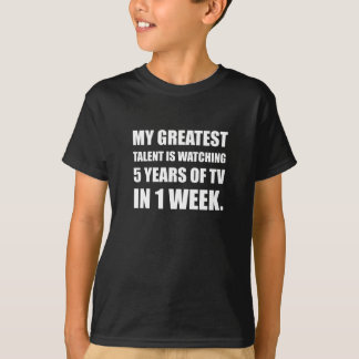 Talent Watching Television T-Shirt