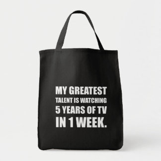 Talent Watching Television Tote Bag