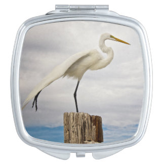 Talented Egret | Fort Myers Beach, Florida Compact Mirror