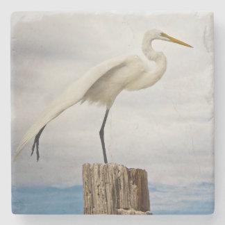 Talented Egret | Fort Myers Beach, Florida Stone Beverage Coaster