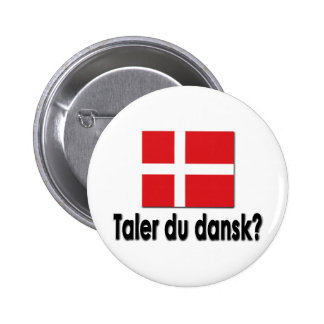 Taler du dansk? 6 cm round badge