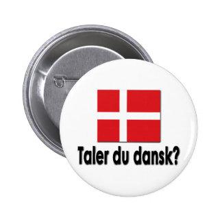 Taler du dansk? pinback button