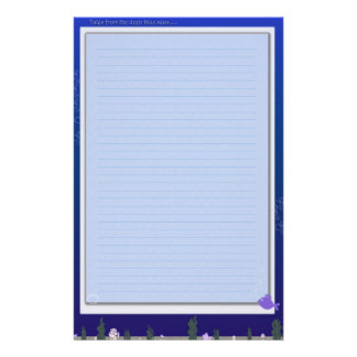 Tales From the Blue Personalized Stationery