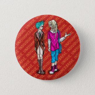 Taliah and Erik 6 Cm Round Badge