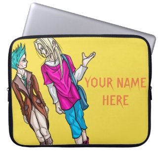Taliah and Erik Personalised Laptop Sleeve