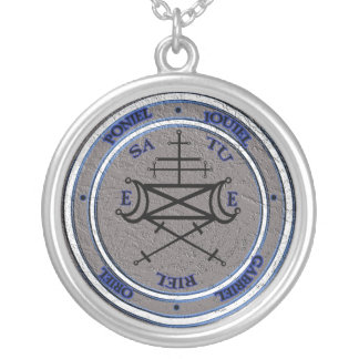 talisman of arbatel silver plated necklace