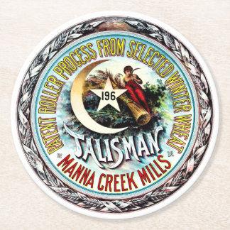 Talisman Winter Wheat Round Paper Coaster