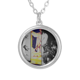 Talitha koum!  Mark 5-38:43 Silver Plated Necklace