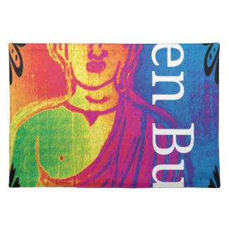 Talk broken buddha placemat
