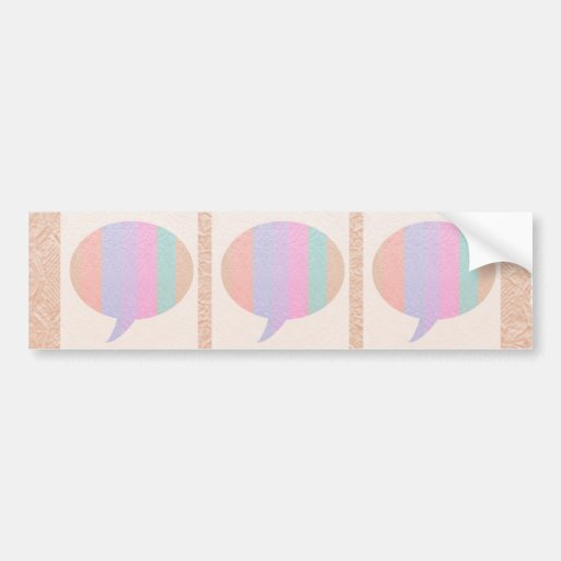 TALK Bubble :  Buy Blank or add Greeting Text Bumper Stickers