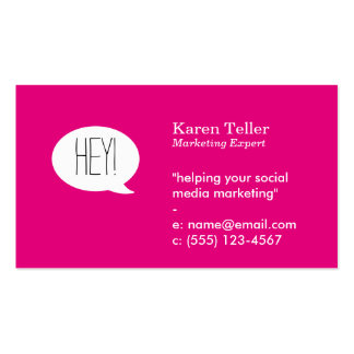 Talk Bubble (hot pink) Pack Of Standard Business Cards