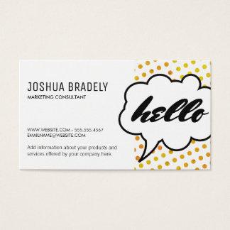 Talk Bubble II / Dot Pattern Business Card