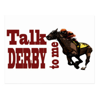 Talk Derby to Me Gifts & Novelties Postcard