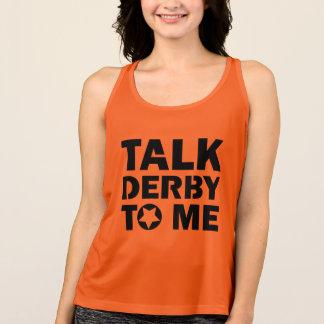 Talk Derby to Me, Roller Derby Girl Design Singlet