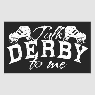 Talk Derby to me, Roller Derby Rectangular Sticker