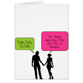 Talk Dirty To Me... Card