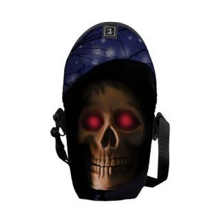 Talk eye skull messenger bags